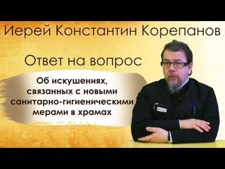 Ответ на вопрос об искушениях, связанных с новыми санитарно-гигиеническими мерами в храмах
