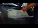 Глубокая полировка фар с последующим бронированием