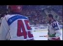 Драка в хоккее Артюхин кладет 5-ку Финов