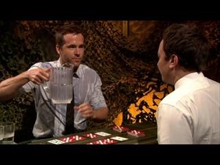 dazed. Ryan Reynolds and Jimmy Fallon Water War (rus sub)