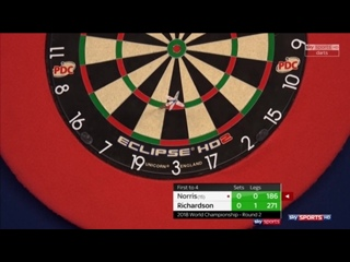 James Richardson vs Alan Norris (PDC World Darts Championship 2018 / Round 2)