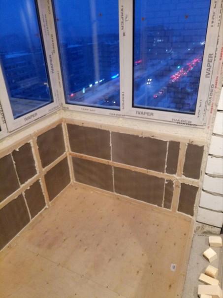 Утеплял пеноплексом 5 см, пол, потолок, под окном #утепление@my.stroyka
