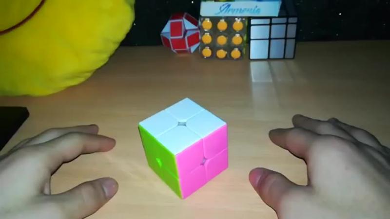 Лёгкий способ как собрать кубик рубика 2x2. Обучалка!.mp4