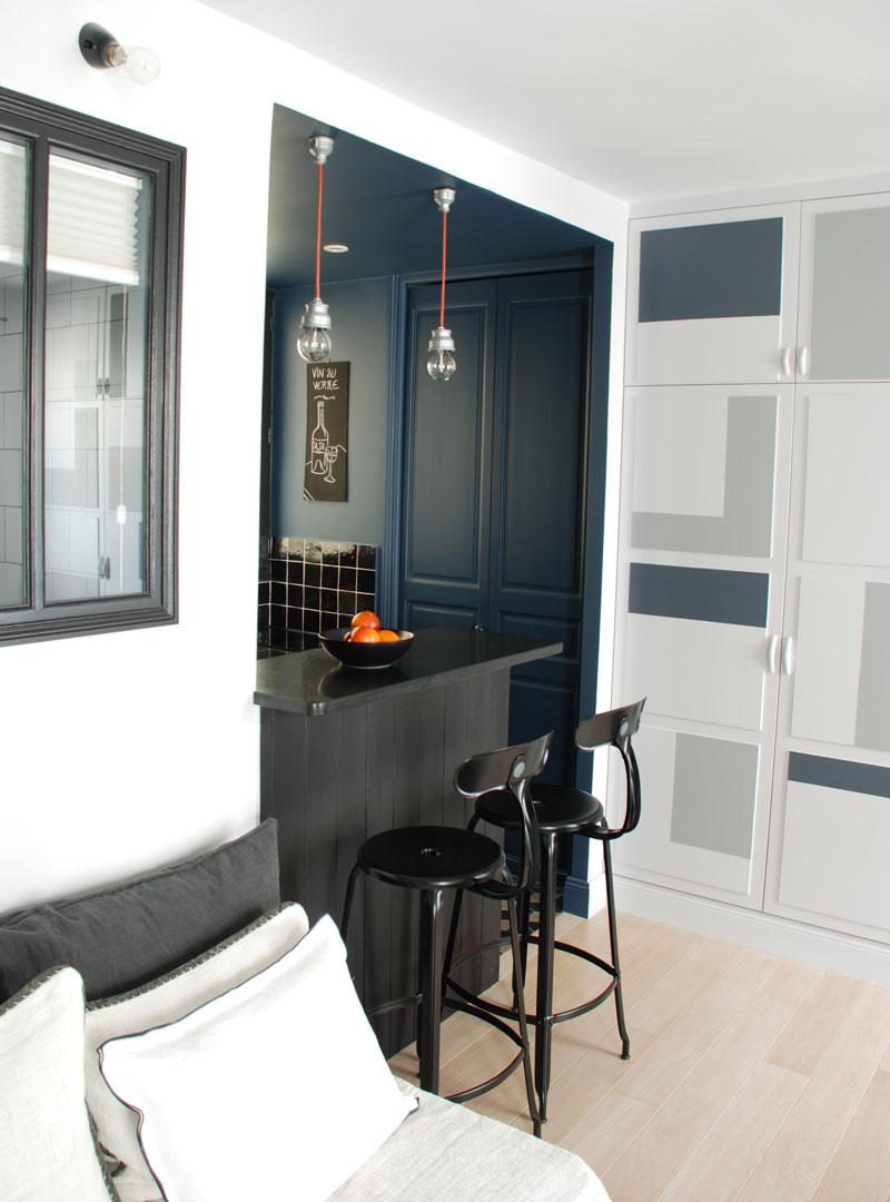 Интерьер квартиры 30 м в Париже.