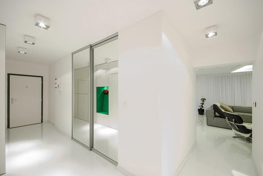 Ультрасовременный футуристический дизайн квартиры 48 м.
