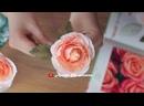 Красивая голландская роза из гофрированной бумаги