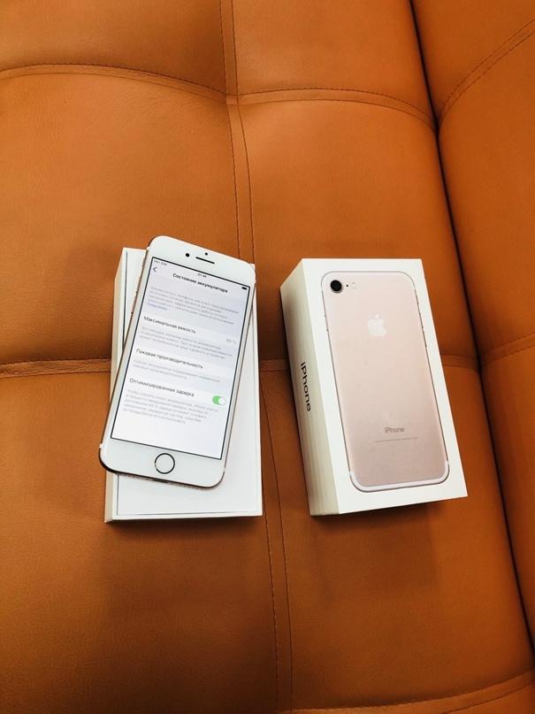 iPhone 7 32gb rose gold  Цена-10 990  Готовы даже | Объявления Орска и Новотроицка №13251