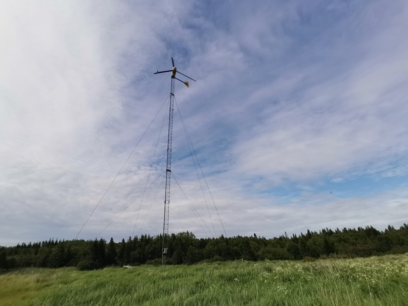 Ветрогенератор в деревне Козлы