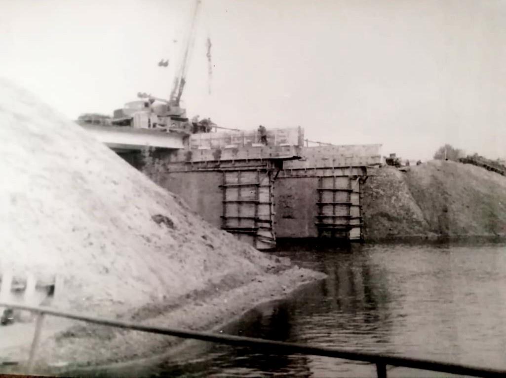 Опубликованы фото реконструкции моста через речку Кимрка в 1984 году