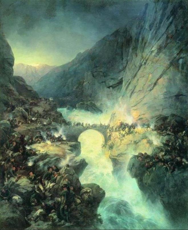 25 сентября 1799 года - РУССКАЯ АРМИЯ ПОД КОМАНДОВАНИЕМ А. СУВОРОВА ПРОШЛА С БОЕ...