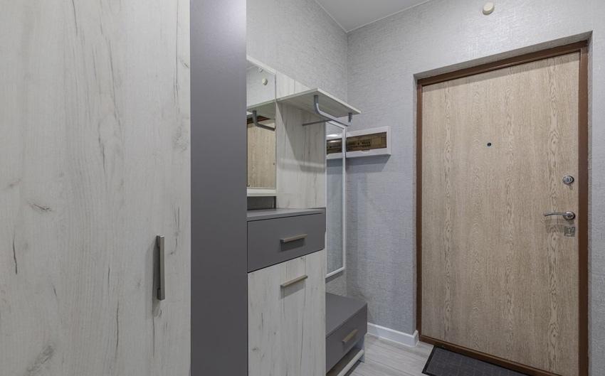 Интерьер квартиры-студии 24 м в пригороде Санкт-Петербурга.
