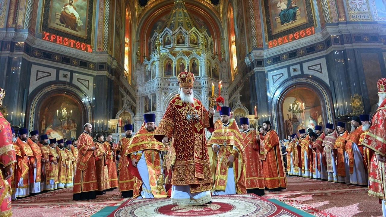 Православные встречают Воскресение Христово
