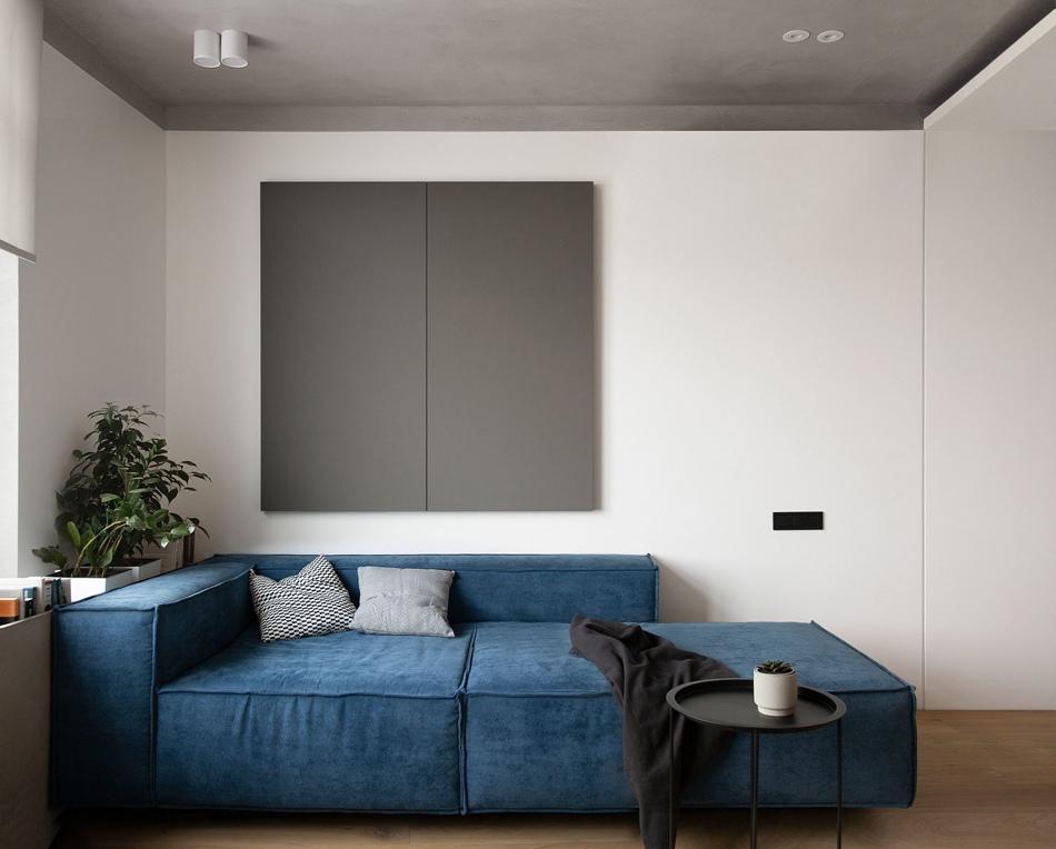 Минималистичный интерьер квартиры 50 кв.