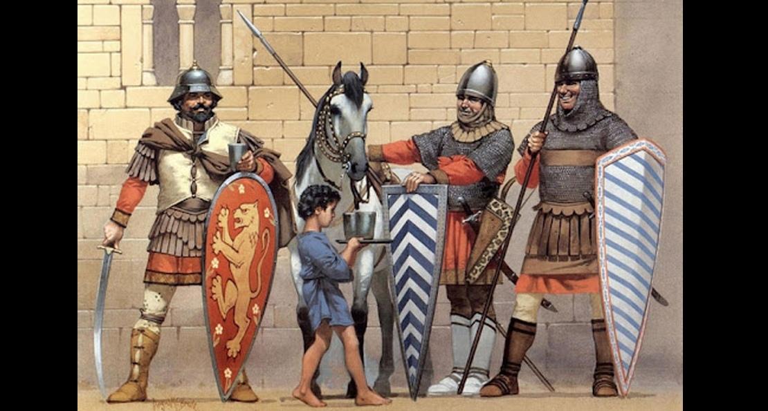 Воины византийской армии