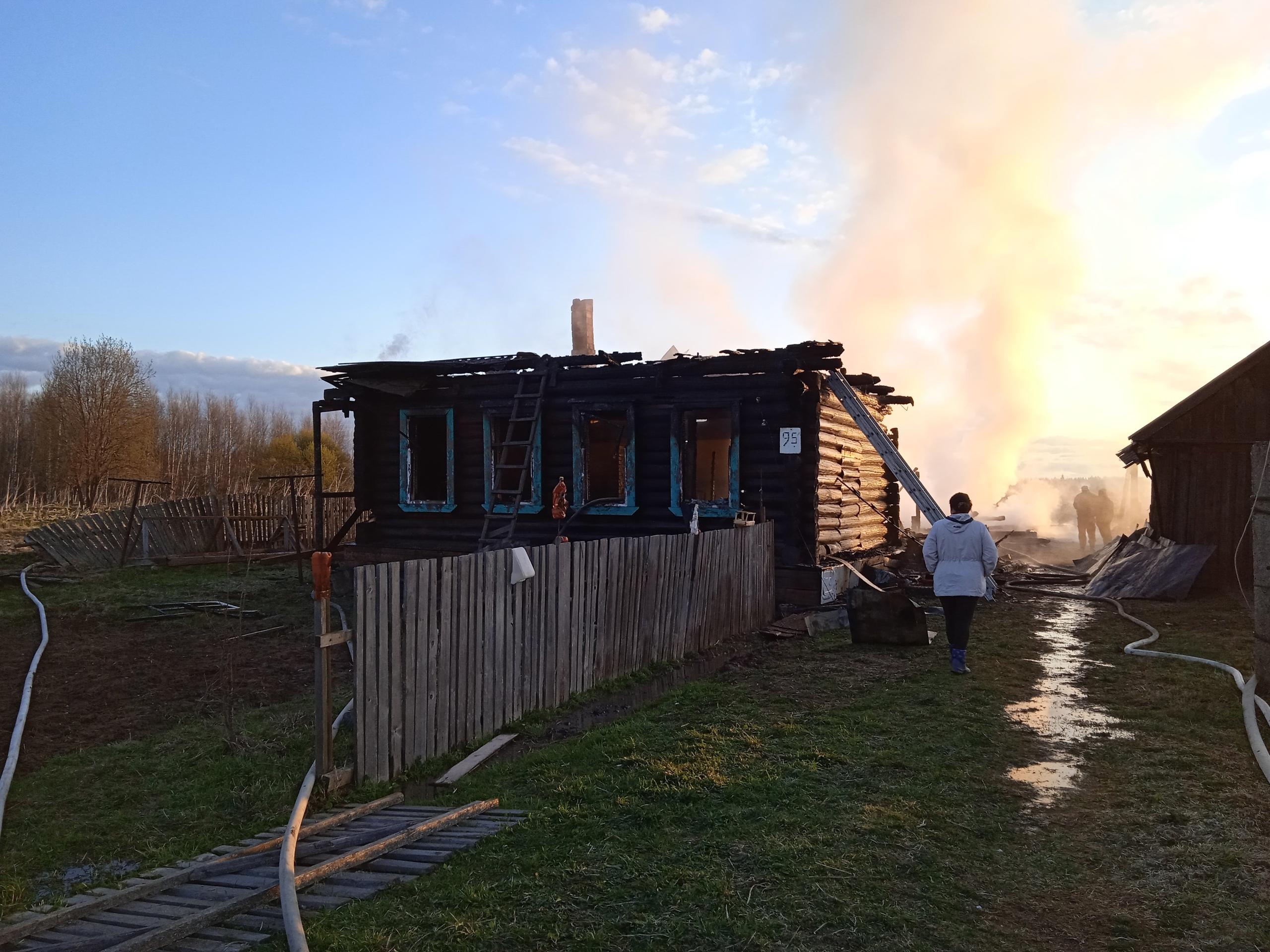 Пожар в с. Тысяцкое