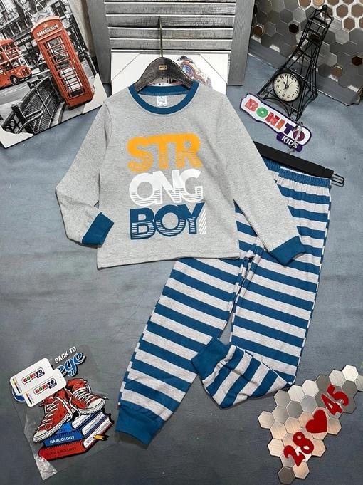 Новинки   Пижама для мальчика , материал: интерлок , состав:100%хлопок   Цена   Размер, 122,128,134 рост   Хорошее качество ,красивые модели   Фирма BONITO