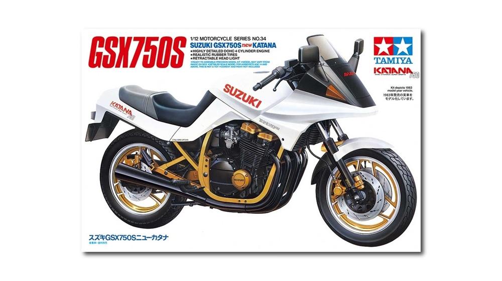 Tamiya: моделька Suzuki GSX750S Katana