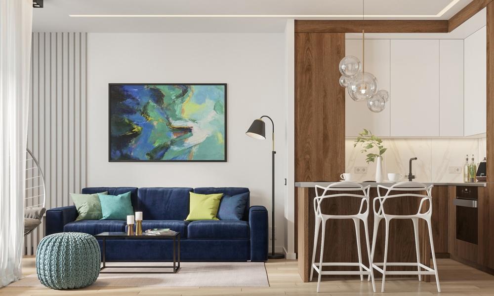 Дизайн-проект студийной квартиры 31 кв.