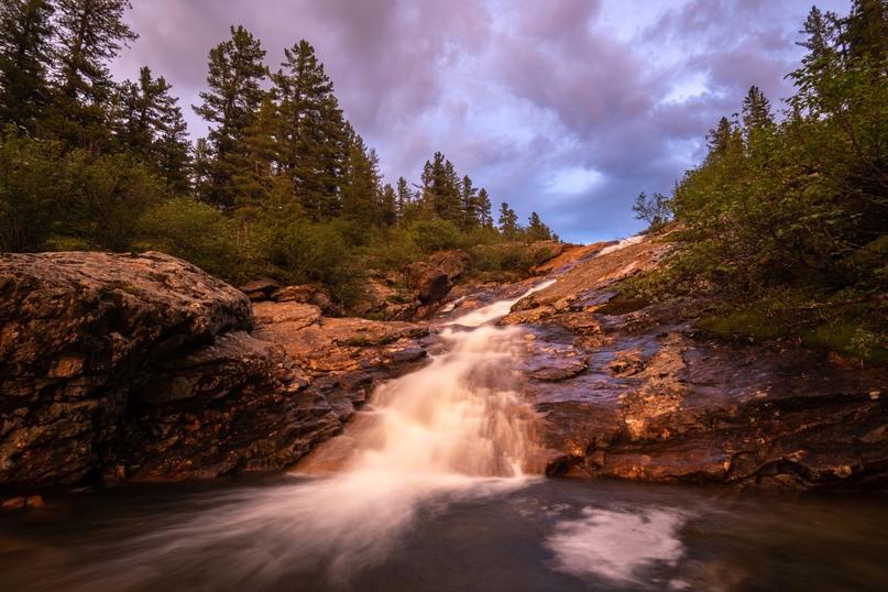 Водопады реки Подкомарной