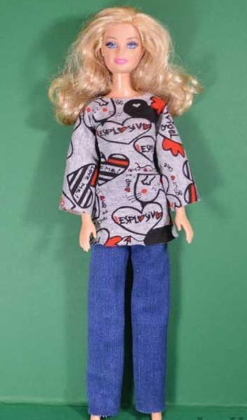 Как сшить одежду для Барби, как сшитьплатье для Барби, платье для Барби своими руками, как сшить тунику для барби мастер-класс, как сшить пальто для Бпрби своими руками,
