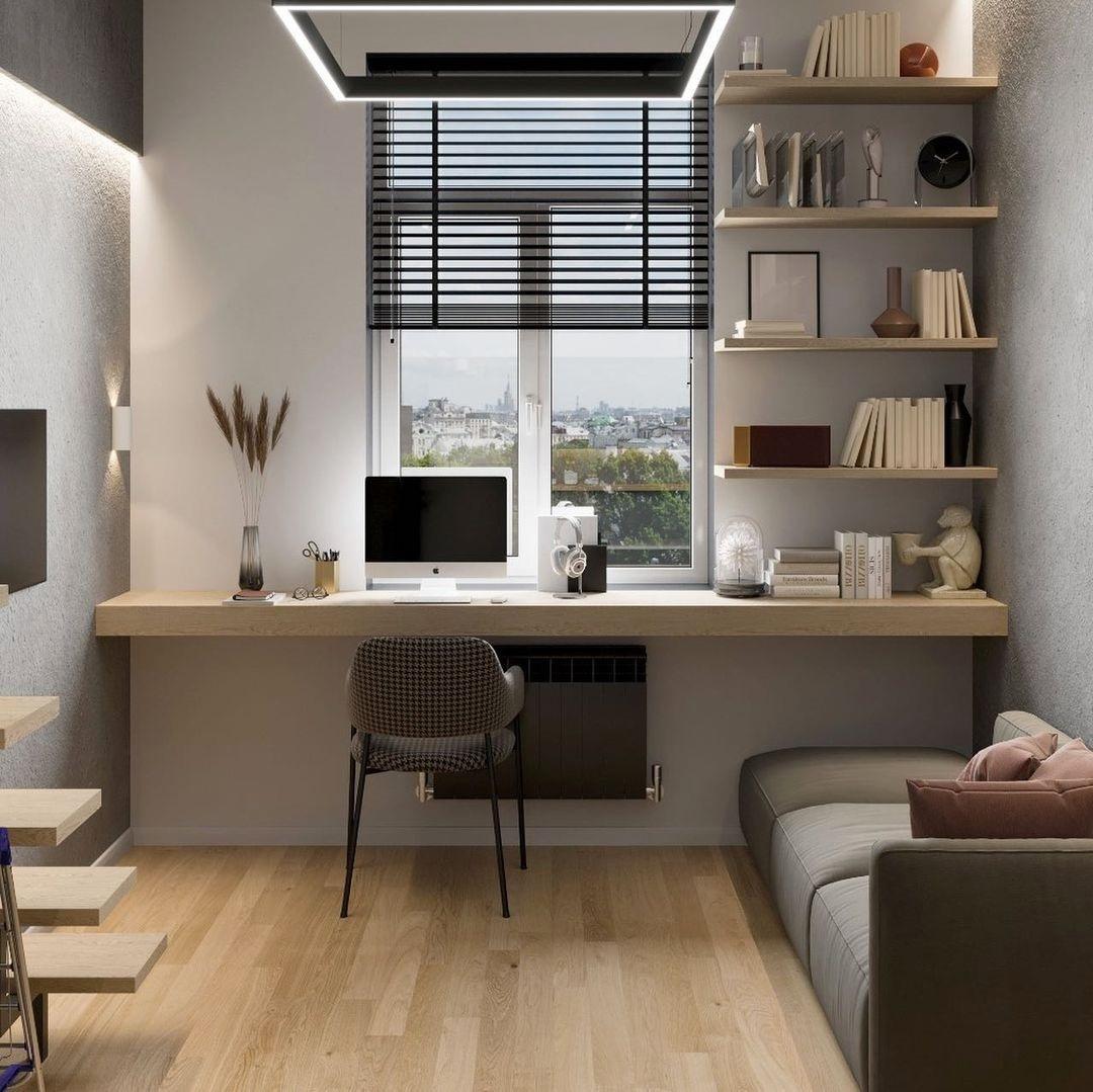 Дизайн-проект двухуровневой студии 24 кв.