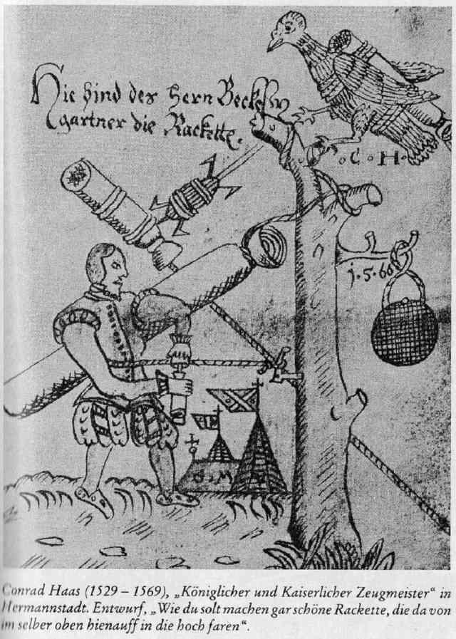 Ракеты XVI века: пилотируемые, многоступенчатые и с соплами, изображение №12