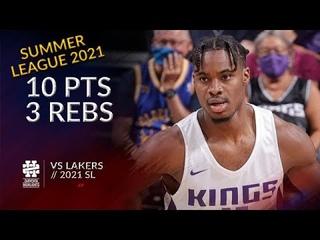 Davion Mitchell 10 pts 3 rebs vs Lakers 2021 Summer League