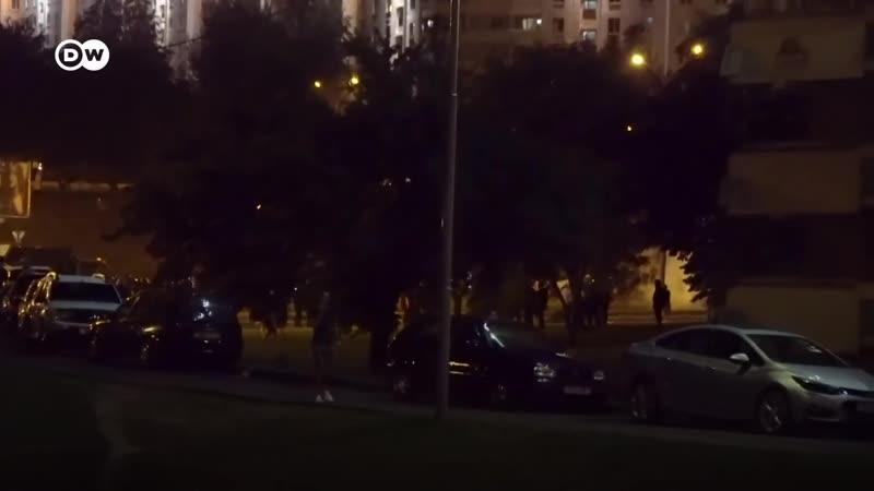 Ночь после выборов как Минск протестовал против итогов голосования