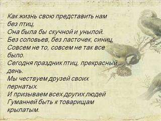 "Презентация ко Дню птиц ""Крылатые соседи, пернатые друзья"""