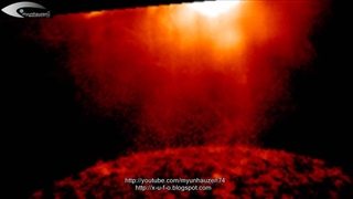 Breaking News! Huge Giant Super Anomaly (Nibiru) UFO over the North Pole of the Sun July 21, 2014