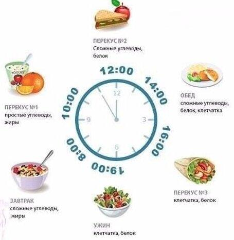 Время завтрака обеда ужина во время диеты