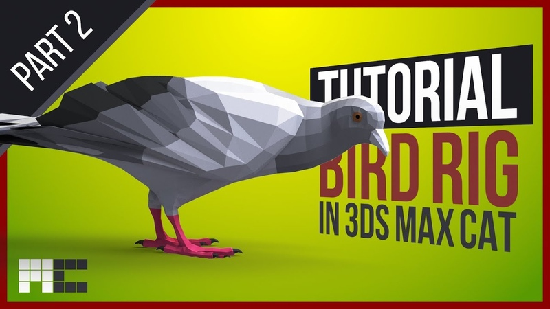 How To Do a Bird Rig With Foldable Wings 3ds Max CAT Skinning Tutorial Part 2 2