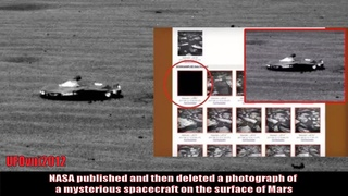 NASA published and then deleted a photograph of a mysterious spacecraft on the surface of Mars