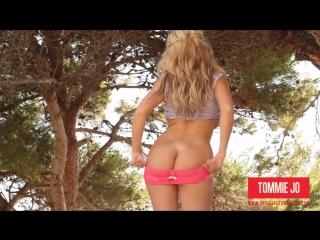 Tommie Jo young girl erotica in garden