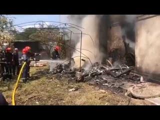 Авиакатастрофа на Украине: самолёт упал на жилой дом