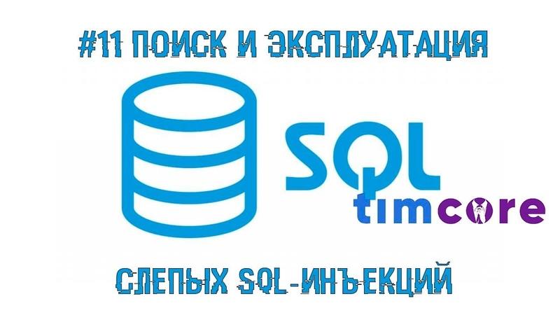 11 Поиск и эксплуатация слепых SQL-инъекций | Timcore