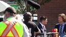 Jared Padalecki, Jensen Ackles and Alexander Calvert (Jack) goofing around on set today spn 13x04