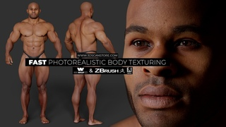 Fast photorealistic body texturing using scan data