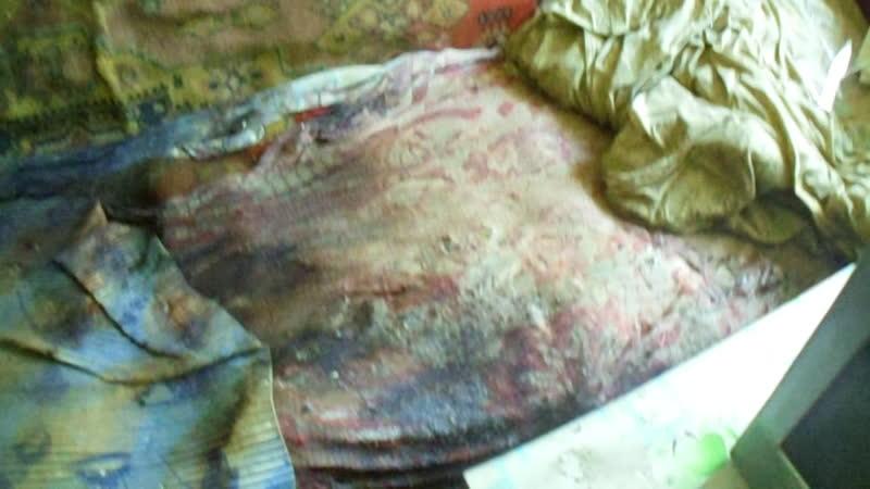 Уборка после трупа 2 месяца мухиииии