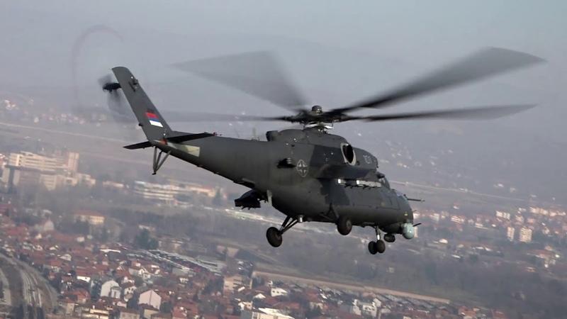 Srpski Mi 35M u letu iznad Niša