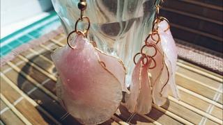 #shorts Clay earrings Roses petals||Diy Earrings Rose Petals||Earrings petals Roses from Clay||