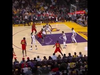 Evan Turner put lebron james on skate - Lakers Leading by mile versus Hawks