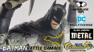 Mcfarlane Dark Knights Metal Batman Battle Damage DC Multiverse UNBOXING and COMPARISON