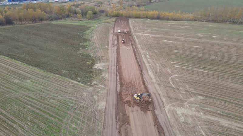 Строительство дороги от ЖК Зелёные Аллеи до М4