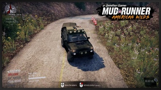 Russian Millitary car VAZ 2329 NIVA Pickup v 0 1 with trailer in Spintires Mudrunner American Wilds