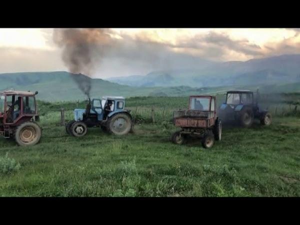Синий трактор Трактор Беларус 1221 на бездорожье Off road tractor 2