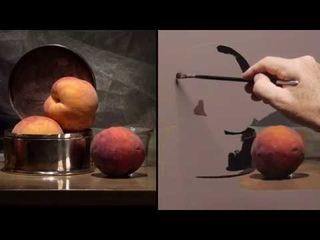 I Paint Three Peaches - Painting Demo
