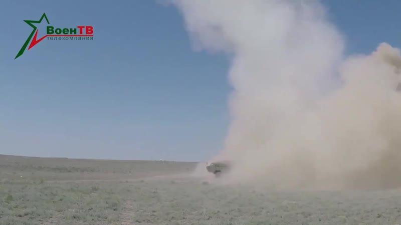 Пуска и попадание ракеты комплекса Точка-У с осколочно-фугасной боевой частью 9Н123Ф.mp4