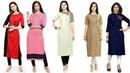 Plain Stylish And Trendy Designer Casual Kurta/Kurti Dress Design