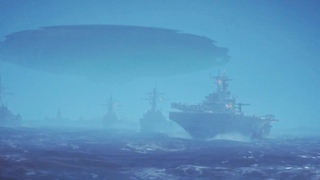 👽 Huge UFO Mothership over US Navy Ships in Storm in South China Sea (CGI)